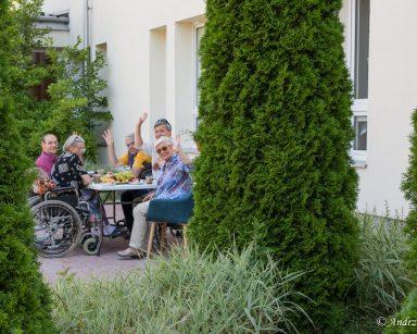 Sierpniowy piknik w ogrodzie